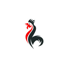 Rooster logo vector modern graphic abstract download template