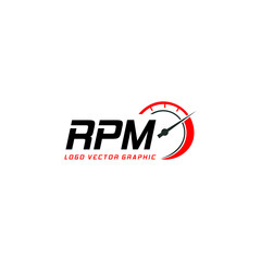 RPM vector logo graphic abstract modern template