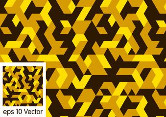 Golden Pattern of geometric shapes