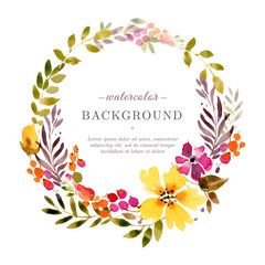 Tender Floral frame in watercolor style
