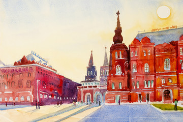 State Historical Museum on Red Square in Moscow, Russia.