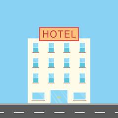 illustration of hotel