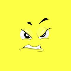 Annoyed Face Illustration