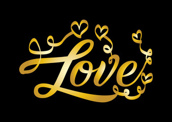 Love lettering. Valentine holiday card