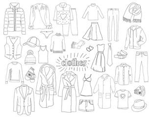 A set of clothes. Sketch.
