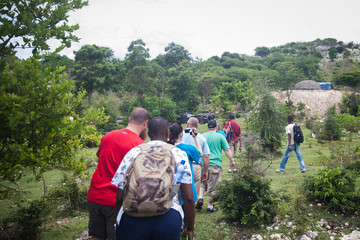 People Hiking in Haiti