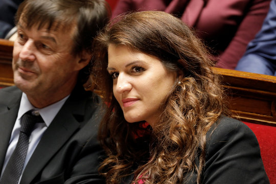 French Minister Marlene Schiappa attends the questions to the government session at the National Assembly in Paris