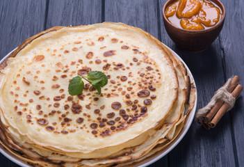 Hot delicious pancakes