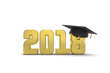 2018 graduation education message. 3D Rendering