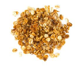 granola isolated on white