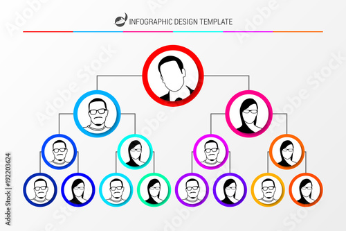 Organization Chart Concept Infographic Design Template Vector