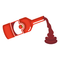 tomato ketchup bottle icon vector illustration design