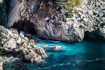 cliff Sea beautiful blue coast ocean sea background