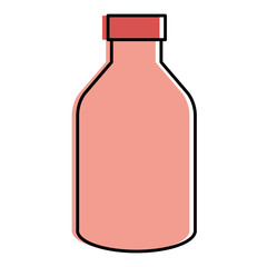 yogurt bottle isolated icon vector illustration design