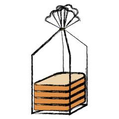 bread sliced bag icon vector illustration design