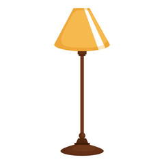 bedroom lamp isolated icon vector illustration design
