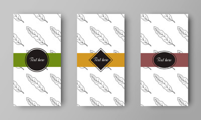 vector design of leaflet cover with print of leaf pattern