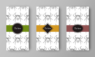 vector design of leaflet cover with print of spider pattern
