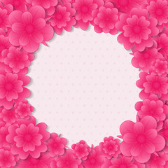 Beautiful background with flowers and copyspace. Vector.