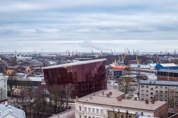 Liepaja city aerial view, Latvia.
