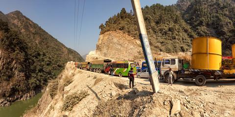 Traffic Jam on Narayanghat-Mugling Highway, Nepal