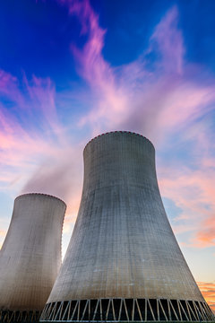 Nuclear power plant, South Bohemia, Czech Republic