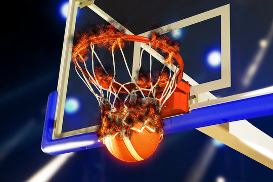Winning points at a basketball game
