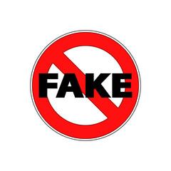 Icono plano prohibido FAKE