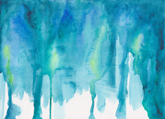 Abstract Watercolor Painting - Flowing