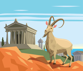 Wild goat in ancient Greek polis