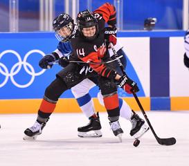 Olympics: Ice Hockey-Women Team Group A - CAN-FIN