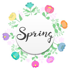 Background design with flowers and leaves for sping holidays greeting cards, advertising, banners. Women's day, 8 March, Valentines day.