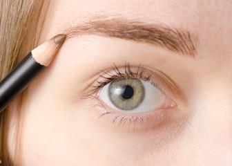 Female eye natural eyebrow pencil