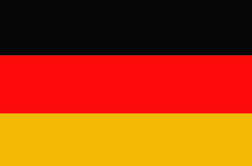Bright background with flag of Germany.