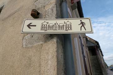 Loir-et-Cher,France-January 24, 2018: A straightforward directional arrow in Loire, France.