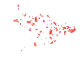 vector pink tinsel festival confetti birthday christmas new year party celebration firework decor