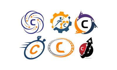 Logotype C Modern Template Set