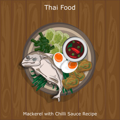 thai food Mackerel with Chilli Sauce Recipe