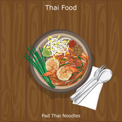 thai food Pad Thai Noodles