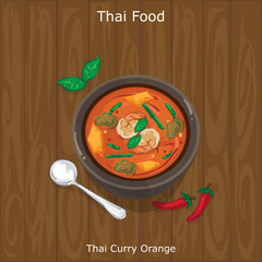 thai food Thai Curry Orange
