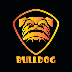 bulldog sport vector symbol