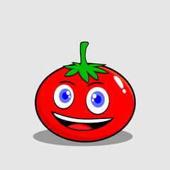 tomato character mascot illustration