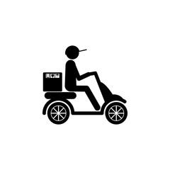 postman on the scooter icon. Element of logistic for mobile concept and web apps. Icon for website design and development, app development. Premium icon