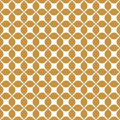 Ornamental Abstract floral tiles seamless vector pattern. Geometric Flower Background.