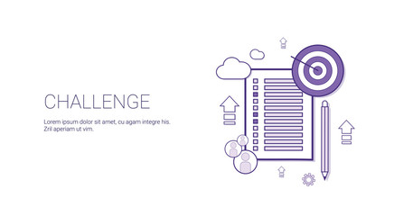 Challenge Web Banner With Copy Space Business Motivation Concept Vector Illustration