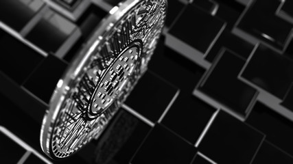 Cardano Coin ADA blockchain cryptocurrency altcoin 3D Render