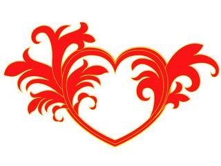 Valentine pattern with heart