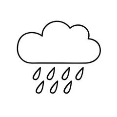 Ausmalbild Regenwolke