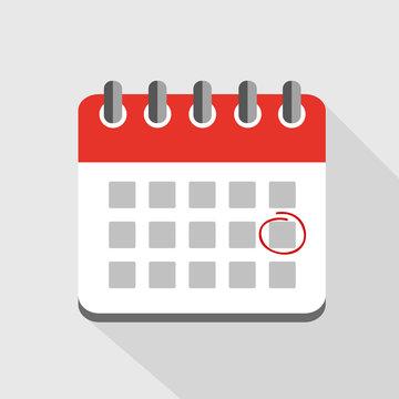 termin im roten wandkalender einkreisen