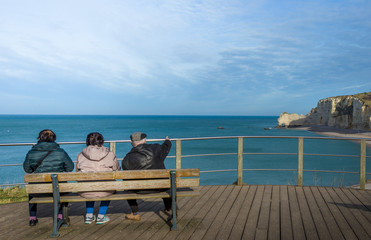 Relaxing in Etretat France